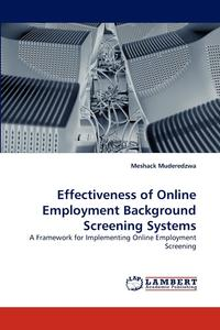 Meshack M. - Effectiveness of Online Employment Background Screening Systems