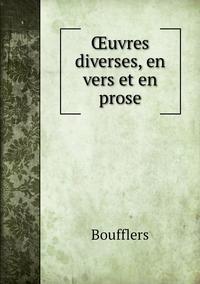 Œuvres diverses, en vers et en prose, Boufflers обложка-превью