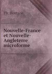 Nouvelle-France et Nouvelle-Angleterre microforme, Th. Bentzon обложка-превью