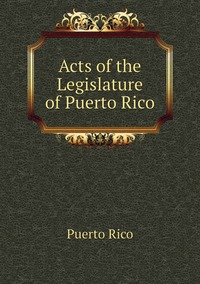 Acts of the Legislature of Puerto Rico, Puerto Rico обложка-превью