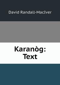 Книга под заказ: «Karanòg: Text»