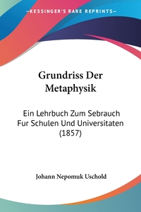 Книга под заказ: «Grundriss Der Metaphysik»