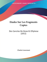 Книга под заказ: «Etudes Sur Les Fragments Coptes»
