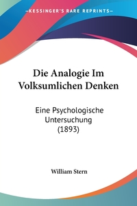 Книга под заказ: «Die Analogie Im Volksumlichen Denken»