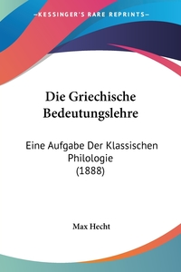Книга под заказ: «Die Griechische Bedeutungslehre»