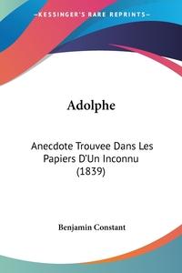 Книга под заказ: «Adolphe»