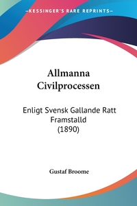 Книга под заказ: «Allmanna Civilprocessen»