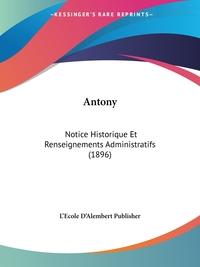 Книга под заказ: «Antony»