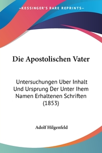 Книга под заказ: «Die Apostolischen Vater»