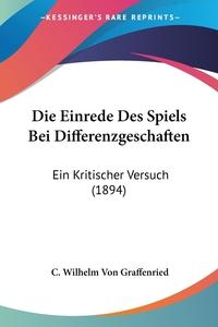 Книга под заказ: «Die Einrede Des Spiels Bei Differenzgeschaften»