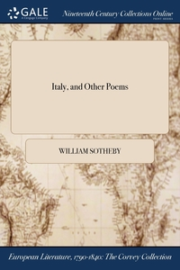 Italy, and Other Poems, William Sotheby обложка-превью
