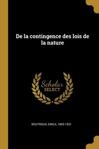 Книга под заказ: «De la contingence des lois de la nature»