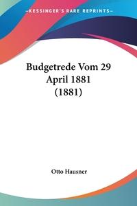 Budgetrede Vom 29 April 1881 (1881), Otto Hausner обложка-превью