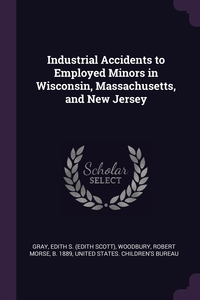 Industrial Accidents to Employed Minors in Wisconsin, Massachusetts, and New Jersey, Edith S. Gray, Robert Morse Woodbury, United States. Children's Bureau обложка-превью