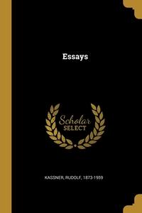 Essays, Rudolf Kassner обложка-превью