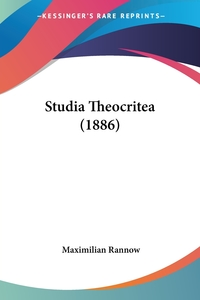 Studia Theocritea (1886), Maximilian Rannow обложка-превью