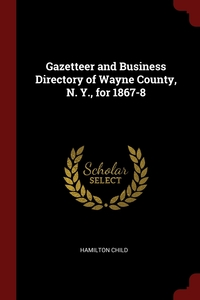 Gazetteer and Business Directory of Wayne County, N. Y., for 1867-8, Hamilton Child обложка-превью