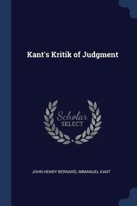 Kant's Kritik of Judgment, John Henry Bernard, И. Кант обложка-превью