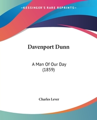 Davenport Dunn: A Man Of Our Day (1859), Charles Lever обложка-превью