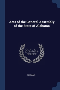 Acts of the General Assembly of the State of Alabama, Alabama обложка-превью