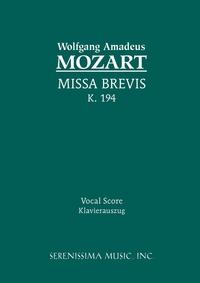 Missa Brevis, K.194: Vocal score, Wolfgang Amadeus Mozart, Georg Trexler, Karel Torvik обложка-превью