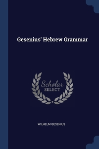 Gesenius' Hebrew Grammar, Wilhelm Gesenius обложка-превью