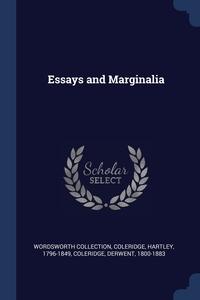 Essays and Marginalia, Wordsworth Collection, Coleridge Hartley 1796-1849, Coleridge Derwent 1800-1883 обложка-превью