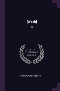 [Work]: 06, Walter Pater обложка-превью