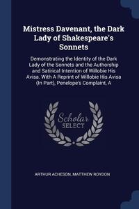 Книга под заказ: «Mistress Davenant, the Dark Lady of Shakespeare's Sonnets»