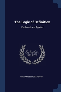 Книга под заказ: «The Logic of Definition»