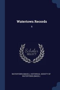Книга под заказ: «Watertown Records»