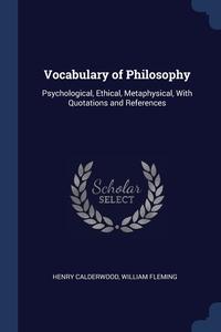 Книга под заказ: «Vocabulary of Philosophy»