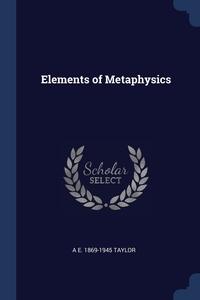 Книга под заказ: «Elements of Metaphysics»