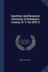 Gazetteer and Business Directory of Schoharie County, N. Y. for 1872-3, Hamilton Child обложка-превью
