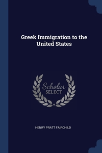 Книга под заказ: «Greek Immigration to the United States»