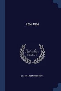 Книга под заказ: «I for One»