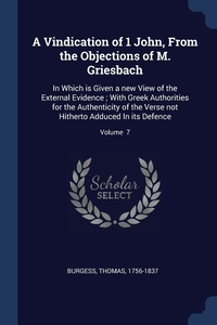 Книга под заказ: «A Vindication of 1 John, From the Objections of M. Griesbach»