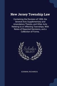 Книга под заказ: «New Jersey Township Law»