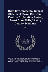 Книга под заказ: «Draft Environmental Impact Statement»