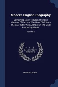 Книга под заказ: «Modern English Biography»