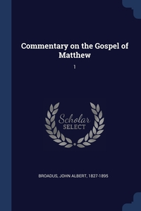 Книга под заказ: «Commentary on the Gospel of Matthew»