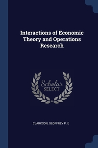 Книга под заказ: «Interactions of Economic Theory and Operations Research»