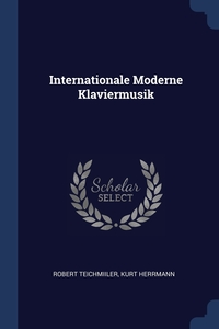 Книга под заказ: «Internationale Moderne Klaviermusik»
