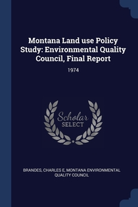 Книга под заказ: «Montana Land use Policy Study»