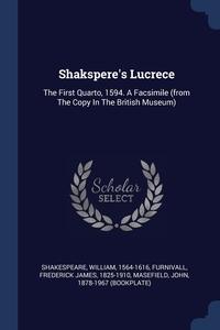 Книга под заказ: «Shakspere's Lucrece»