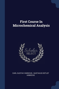 Книга под заказ: «First Course In Microchemical Analysis»