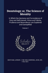 Книга под заказ: «Deontology; or, The Science of Morality»