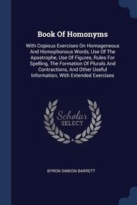 Книга под заказ: «Book Of Homonyms»