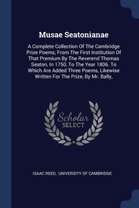 Книга под заказ: «Musae Seatonianae»