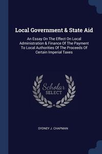 Книга под заказ: «Local Government & State Aid»
